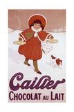 Cailler Orange Coat Little Girl Wydruk giclee