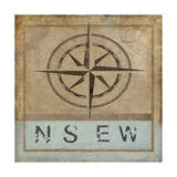 Compass Rose II Giclee Print by Karen Williams