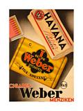 Cigares Weber Giclee Print
