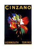 Cinzano Vermouth Torino Wydruk giclee