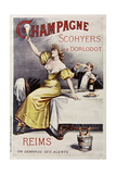 Champagne Scohyers Giclee Print