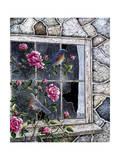 Bluebirds in Window Giclee Print by Jeff Tift