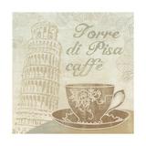 Caffe Pisa Giclée-tryk af Erin Clark