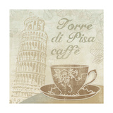 Caffe Pisa Giclee Print by Erin Clark