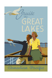 Couple, Cruise the Great Lakes Canadian Pacific Giclée-Druck