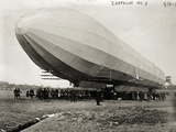 Blimp, Zeppelin No. 3, on Ground Photographic Print