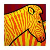 Cadmium Zebra Giclee Print by John Nolan