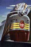 Canadian Pacific-Eisenbahn Giclée-Druck