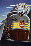 Treno della Canadian Pacific, in inglese Stampa giclée