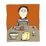Breakfast Boy Giclee Print by Carla Martell