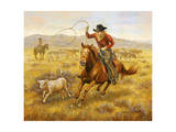 Cowboy Giclee Print by Lee Dubin