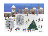 Christmas in Winter Town Giclee Print by Gordon Barker