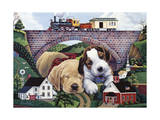 Choo, Choo, Chooed Out Giclee Print by Jenny Newland