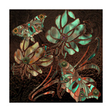 Copper Butterflies Giclee Print by Mindy Sommers
