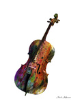 Cello Gicléedruk van Mark Ashkenazi