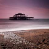 Brighton Pier Fotodruck von Nina Papiorek