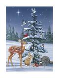 Christmas Gathering Giclée-tryk af William Vanderdasson