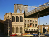 Brooklyn Bridge East Tower Photographic Print
