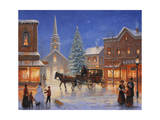 Christmas in Pleasantville Giclee Print by John Zaccheo