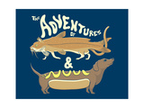 Catfish Wienerdog Giclee Print by Steven Wilson