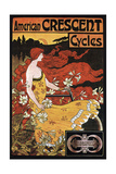 Crescent Cycles Giclee Print