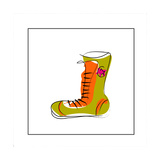 Converse Style Shoe Giclee Print