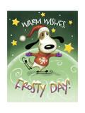 Dog Skater Giclee Print by Margaret Wilson
