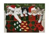 Christmas Kittens Giclee Print by William Vanderdasson