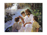 Christ and the Children Giclee Print by Hal Frenck