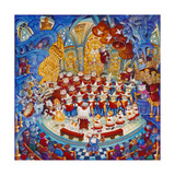Holy Cats Meow-A-Lujah Chorus Giclee Print by Bill Bell