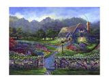 Garden Gate Giclee Print by Bonnie B. Cook