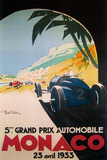 Grandprix Automobile Monaco 1933 - Giclee Baskı
