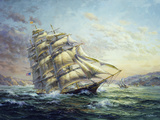 Clipper Ship Surprise Giclee Print by Nicky Boehme