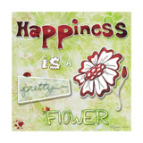 Happiness Is a Pretty Flower Giclee Print by Megan Aroon Duncanson