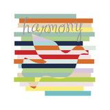 Dove Rainbow Giclée-tryk af Erin Clark