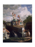 Clouds Through a Sandwich Giclee Print by Bob Byerley