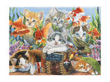 Gone Fishing Giclee Print by Jenny Newland