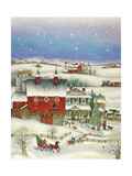 Country Christmas Giclee Print by Bill Bell
