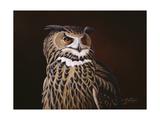 Eagle Owl Giclee Print by Wilhelm Goebel