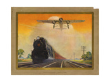 Giant Conquerers of Space and Time Pennsylvania Railroad Giclee Print