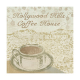 Hollywood Coffee House Giclee Print by Erin Clark
