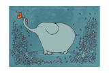 Garden Elephant Giclee Print by Carla Martell