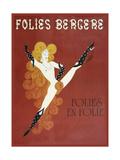 Folies Bergere Risque - Giclee Baskı