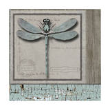 Dragonfly Blue Giclee Print by Karen Williams