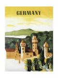 Germany Castle Vint Trav Giclee Print