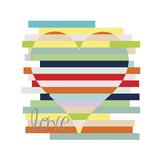 Heart Rainbow Giclee Print by Erin Clark