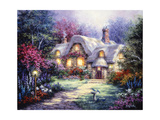 Garden Cottage Giclee Print by Nicky Boehme