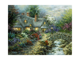 Country Cottage Giclee Print by Nicky Boehme