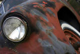 Chevy Headlight Photographic Print by Karen Williams