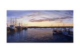Dusk at Stonington Harbor Reproduction procédé giclée par Bruce Dumas